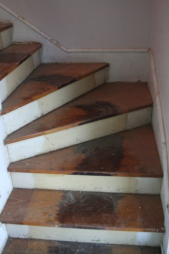However, There Had Also Been A Runner On The Stairs, Which Meant That There  Was A Thick Stripe Of Lacquer On The Treads, Which Made The Sanding Process  A ...